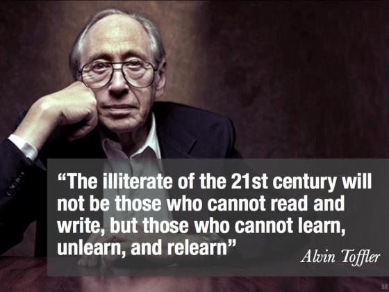 Poster - Toffler Quote
